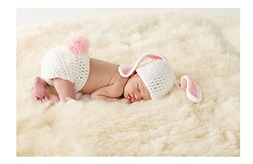 Mud Pie Newborn Baby Easter Bunny Bloomer and Ears Hat Photography Set (1592053)