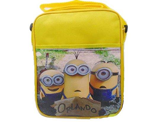 Despicable-Me-3-Minion-Lunch-Bag-School-Supplies-Cross-Body-Should-Strap-Canvas-Orlando