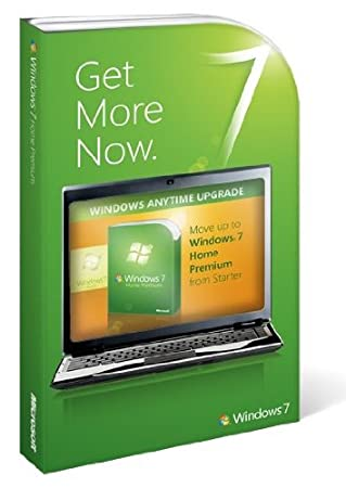 Microsoft Windows 7 Anytime Upgrade, Starter to Home Premium (Licence only)
