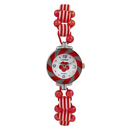 Glitter Red Retro Look Bracelet watch for Girls