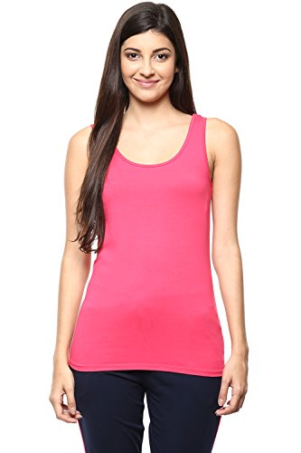 Ajile by Pantaloons Women's Round Neck Tank Top (205000005661118, Pink, Small)