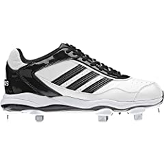 Buy Adidas Ladies Abbott Pro Low Metal Fastpitch Cleat, White|Black|Black, 7 1 2 by adidas