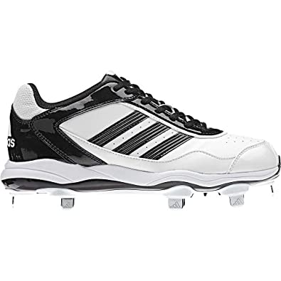 Buy Adidas Ladies Abbott Pro Low Metal Fastpitch Cleat, White|Black|Black, 8 1 2 by adidas