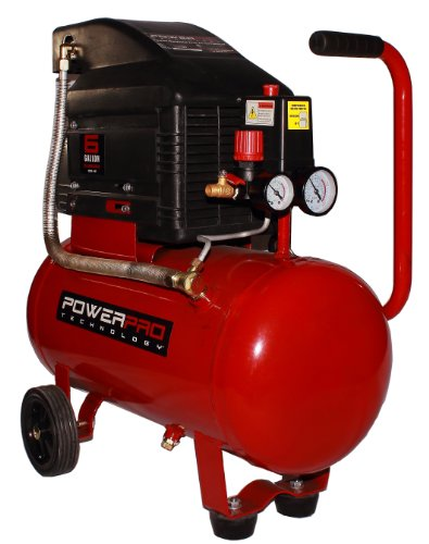 PowerPro 22060 6-Gallon Horizontal Tank Oil Lubed Air Compressor