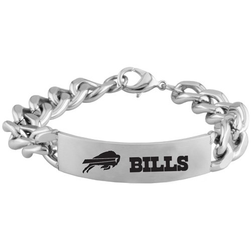 Team Titanium Buffalo Bills Steel ID Bracelet