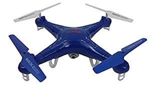 Syma X5C Quadcopter Drone with HD Camera and extra battery in exclusive Blue design by Syma