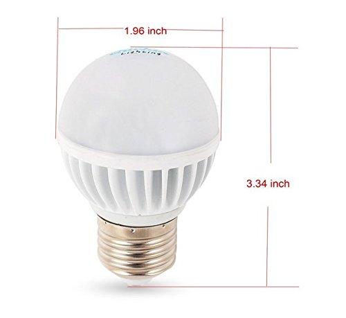 Chichinlighting® E26 Screw Base 12 Volt Ac/Dc 5.6 Watt Rv Camper Marine Low Voltage Led Light Bulb, Cool White Pure White 6000K