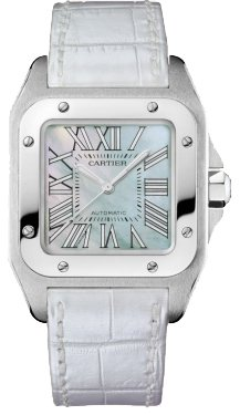 Cartier Santos 100 Green MOP Medium Watch W20132X8