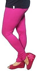 Anuze Fashions Hot Pink Cotton Lycra Ruby Design Legging