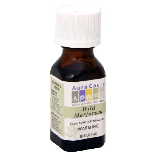 Aura Cacia Essential Oil, Warming Wild Marjoram, 0.5 fluid ounce