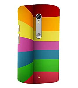 MULTICOLOURED BOOKISH PATTERN 3D Hard Polycarbonate Designer Back Case Cover for Motorola Moto X Style