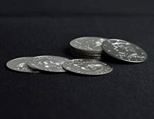 free shipping magic tricks close up magic Palming Coins(Half Dollar Version)