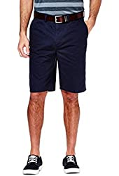 Haggar Men's Eco Straight Fit Flex Waistband Plain Front Twill Short