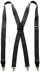 Stacy Adams Men's Big-Tall Extra Long Clip On Suspenders, Gray, 54