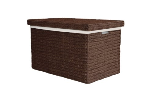 Extra Large Marlow Rattan Wicker Mocha Storage Trunk / Toy Basket / Hamper