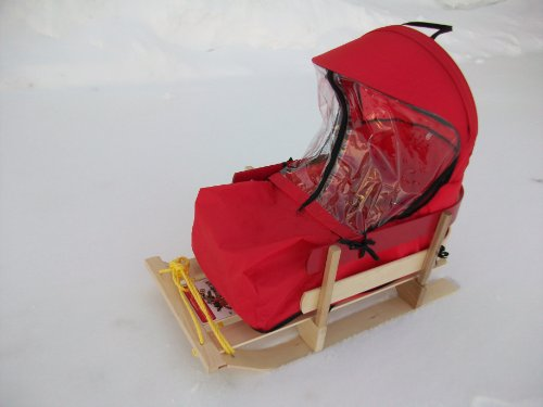 CUSHION with Plastic Windshield for Baby Sled