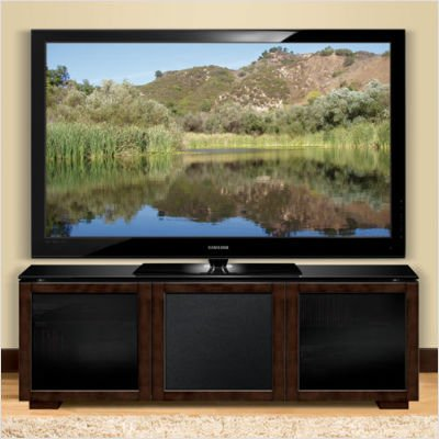 Bell'O PR-12 Chic European Wood Audio/Video Cabinet (Deep Brown Finish)