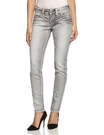 silver jeans damen jeans normaler bund l9113 sclw33 gry gr 25 31 grau sclw33. Black Bedroom Furniture Sets. Home Design Ideas