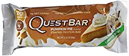 Quest Nutrition Protein Bar, Pumpkin Pie, 21g Protein, 2.12oz Bar, 12 Count