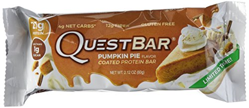 Quest Nutrition Delicious Protein Bars, Limited Time Only While Supplies Last, Pumpkin Pie, 2.1 oz, 12 Count