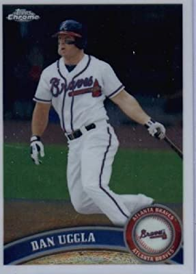 2011 Topps Chrome Baseball Card #26 Dan Uggla - Atlanta Braves - MLB Trading Card
