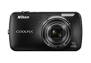 Nikon COOLPIX S800c 16 MP Digital Camera with 10x Optical Zoom and built-in Android Operating System (Black)
