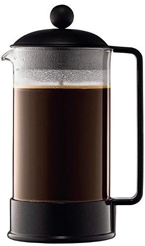 Bodum-BRAZIL-Kaffeebereiter-French-Press-System-Permanent-Edelstahl-Filter-10-liters-schwarz
