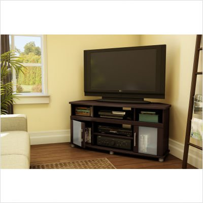 City life Corner TV Stand - Chocolate