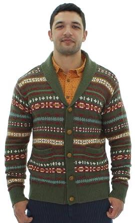 JACHS Just a Cheap Shirt Lorenzo Men's Cardigan Sweater Green Size M