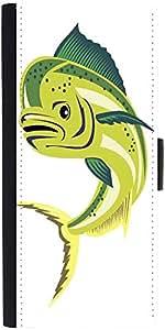 Snoogg Dorado Dolphin Fish Mahi Mahi Jumping Designer Protective Phone Flip Case Cover For Obi Worldphone Sf1