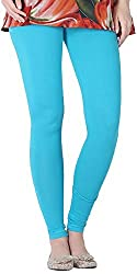 Tulip Collections Women's Light Blue Cotton Slim Leggings (Tcinli0000075_M, Sky Blue, M)