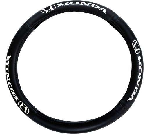 Pilot Automotive SW-161 Genuine Leather Steering Wheel Cover with Honda Logo