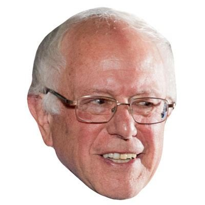 Bernie Sanders Celebrity Mask, Cardboard Face and Fancy Dress Mask