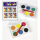 Dozen Mini Kids Watercolor Paint Sets with Brush