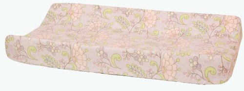 Kids Line Snow Flower Collection Changing Pad Cover By Dena