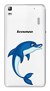 WOW Transparent Printed Back Cover Case For Lenovo A7000