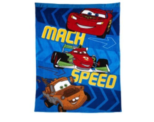 Disneys Cars Plush Ultra Soft Toddler Blanket - This Will Keep Them In Bed! front-86464
