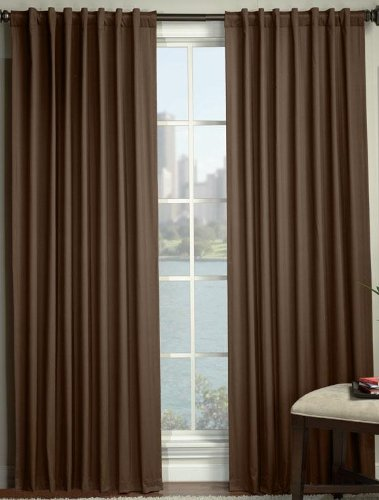 "Dillon Blackout Drapery Panel, 84""Hx50""W, CHOCOLATE"