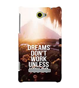 PRINTVISA Quotes Motivation Case Cover for HTC WINDOWS 8S