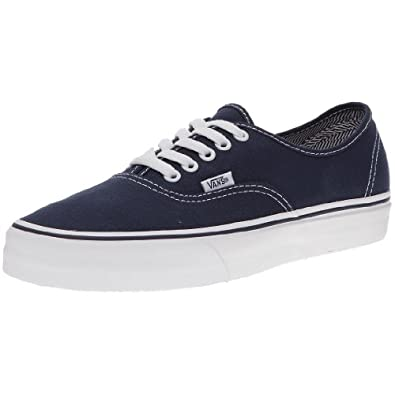 Vans Unisex's VANS AUTHENTIC SKATE SHOES 12 ((ANGLE STRIPE LONG) DARK BLUE/TRUE WHITE)