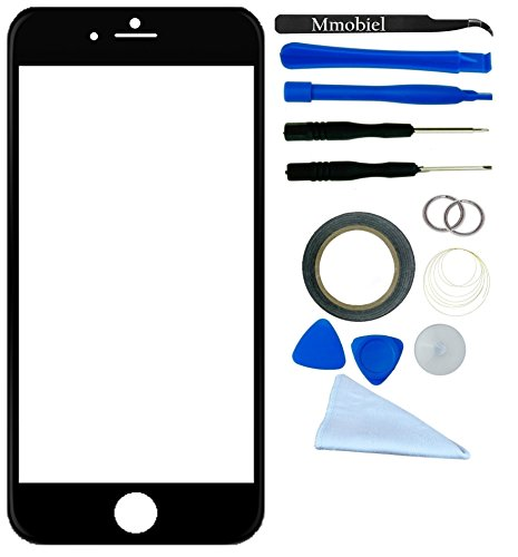 Apple Iphone 6 Black Display Touchscreen Replacement Kit 12 Pieces Including 1 Replacement Front Glass For Iphone 6 A1549 A1586 / 1 Pair Of Tweezers / 1 Roll Of 2Mm Adhesive Tape / 1 Tool Kit / 1 Microfiber Cleaning Cloth / Wire