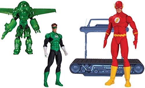 Super Hero Green Lantern Hal Jordan Dark Days Deluxe Vs Icons: The Flash Chain Lightning Action Figure