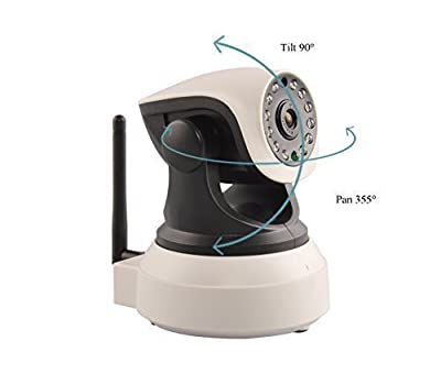 Ouvis veezon VZ1 Wireless WiFi 720P HD Pan Tilt IP Camera (Day/Night Vision,2 Way Audio, SD Card Slot, Alarm, Mobile Android/iOS/iPhone/iPad/Tablet)