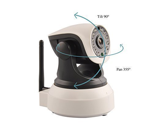 Best Buy! Ouvis veezon VZ1 Wireless WiFi 720P HD Pan Tilt IP Camera (Day/Night Vision,2 Way Audio, S...