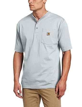 Carhartt Men's Workwear Pocket Short Sleeve Henley Original Fit K84,Ash,Small