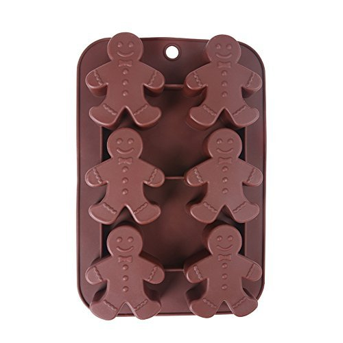 Generic Silicone Mold Gingerbread Man Bakeware Dishwasher Safe