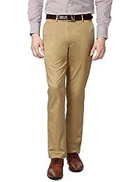 Peter England Khaki Trousers - B01CGN14O4