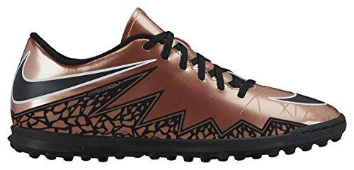 Nike Hypervenom Phade Ii Tf, Scarpe sportive, Uomo, Multicolore (Mtlc Rd Brnz/Blk-Grn Glw-White), 42.5