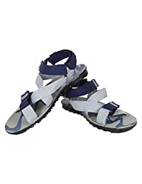 Earton Men's Grey & Blue EVA Sandals & Floaters