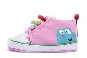 EOZY Zapatos Patucos Para Bebé Niños Unisex Antideslizante De Lona Estilo Rana Rosa EU22